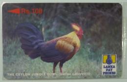 SRI LANKA - GPT - 21SRLD  - Rs 100 - Cylon Jungle Fowl - Mint Blister - Sri Lanka (Ceylon)