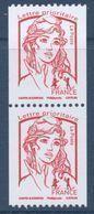 N° 5018 Année 2016 Marianne De Ciappa Rouge Sans Valeur Roulette X2 - 2013-... Marianne De Ciappa-Kawena