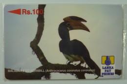 SRI LANKA - GPT - 21SRLE  - Rs 100 - Malabar Red Hornbill - Mint Blister - Sri Lanka (Ceylon)