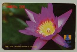 SRI LANKA - GPT - Rs 200 - Blue Lotus - Without Control - Sri Lanka (Ceylon)