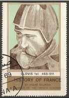 France - 1969 King Clovis Vignette (history Series) - Commemorative Labels