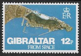 Gibraltar SG398 1978 Gibraltar From Space 12p Mounted Mint [39/31989/2D] - Gibraltar