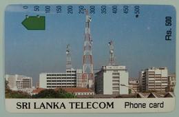 SRI LANKA - Anritsu -  Telecom Building - Rs. 500 - Used - Sri Lanka (Ceylon)