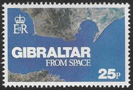 Gibraltar SG MS399(ex) 1978 Gibraltar From Space 25p Unmounted Mint [32/119/2D] - Gibraltar