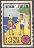 France Publicity Label - Campaign For Clean Air 5f - Commemorative Labels