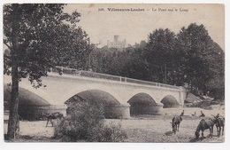 CPA 06 VILLENEUVE LOUBET Le Pont Sur Le Loup - France