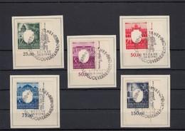 GG Generalgouvernement MiNr. 105-109 Gestempelt, Kl. Gedenkblatt, Eckrand - Besetzungen 1938-45