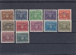 GG Generalgouvernement MiNr. D25-36,  Gestempelt Krakau - Besetzungen 1938-45
