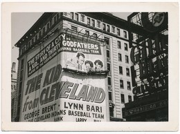 Billboard The Kid From Cleveland, Vintage Snapshot, ± 1940 - Places