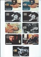 Lot De 9 Telecartes Acteur De Cinema Et Telephone - Colecciones