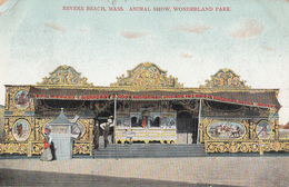 Vintage 1905-1910 - Revere Beach Mass. USA - Animal Show - Wonderland Park - Written Stamp Postmark - 2 Scans - United States