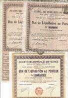 75-IMMEUBLES DE FRANCE. Lot De 3 Bons - Actions & Titres