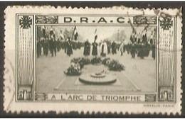 France Commemoratuve Label - D.R.A.C. (Arc De Triomphe) - Military Heritage