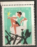 France Publicity Label - Protection Of Children & Adolescents - Commemorative Labels