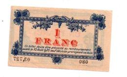 Montpellier -un Franc-voir état - Chambre De Commerce