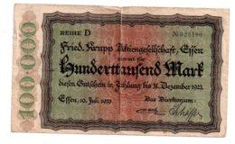 100 000 Mark - Reihe D-1923-voir état - 1918-1933: Weimarer Republik