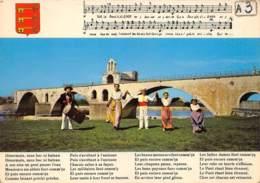 VAUCLUSE  84  AVIGNON  LE PONT SAINT BENEZET - GROUPE FOLKLORIQUE - Avignon