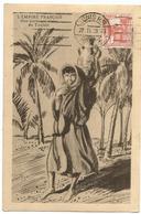 TUNISIE 1C CARTE MAXIMUM TUNIS 27.II.1939 PORTEUSE D'EAU - Tunisie (1888-1955)