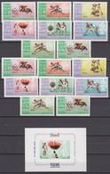 Manama 15.11.1967 Mi # 38-45AB Bl 2 Mexico City Summer Olympics (I) MNH OG - Zomer 1968: Mexico-City