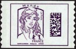 France Autoadhésif N° 1217 ** Marianne De Ciappa Et Kawena Datamatrix. Sans Les Poids Monde - Adhésifs (autocollants)