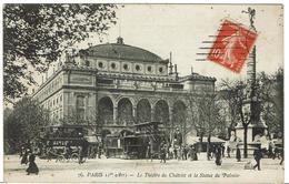 CPA - 75 - PARIS - 1er  - Le Théatre Du Chatelet Et La Statue Du Palmier - - France