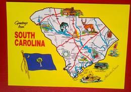 Map Of South Carolina - Cartes Postales