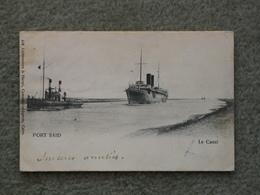PORT SAID EGYPT, SUEZ CANAL. UNDIVIDED BACK PU 1904 - Cargos