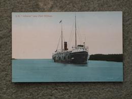 SS ALBERTA AT FORT WILLIAM - Cargos