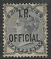 Great Britain, Queen Victoria, 1885, Inland Revenue, 1/2d Slate-blue, Un-used, No Cancel, No Gum - Officials