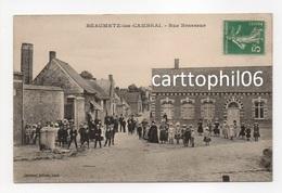 - CPA BEAUMETZ-les-CAMBRAI (62) - Rue Brasseur (belle Animation) - Edition Barnaud - - Frankreich