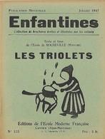 Enfantines N°125 Les Triolets Texte Et Linos De L'Ecole De Rocheville (Manche) - Livres, BD, Revues