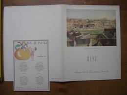 2 MENU 1951 Paquebot LIBERTE CGT Ceria Village Ile De France Duche Citrouille - Menus