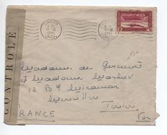 1941 - ENVELOPPE De DAMAS (SYRIE) Pour TOULON Avec CENSURE - Syrie
