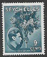 Seychelles, 1942, 9 Cents, Grey-blue , Ordinary Paper, MH * - Seychelles (...-1976)