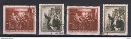 CINA:  1955  TRATTATO  D' AMICIZIA  -  S. CPL. 2  VAL. US. -  RIPETUTA  2  VOLTE  -  YV/TELL. 1034/35 - 1949 - ... Repubblica Popolare