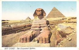 POSTAL    EL CAIRO  -EGIPTO  -THE EXCAVATED SPHINX - El Cairo