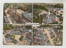 CPSM FONTAINE LE DUN (Seine Maritime) - En Avion Au-dessus De.....4 Vues - Fontaine Le Dun