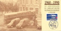 Encart Ambulant Routier Villefranche De Rouergue à Toulouse - Railway Post
