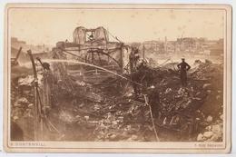 SAPEURS POMPIERS VINCENNES PHOTO Originale 1871 EXPLOSION CARTOUCHERIE De E.DONTENVILL Format CABINET 16.5X11 PARIS BETB - Guerre, Militaire
