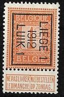 Luik 1912 Typo Nr. 31B - Préoblitérés