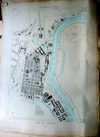 17 ROCHEFORT PLAN DU PORT ET DE LA VILLE  EN 1882   DE L'ATLAS DES PORTS DE FRANCE 49 X 67 Cm - Cartes Marines