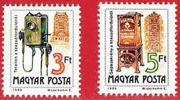 Hungria. Hungary. 1990. Mi 4067 / 68 C (Dent K14). Telefono Telephone. Pillar Box. Téléphone. Telefon. - Hungría