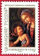 Hungria. Hungary. 1990. Mi 4119. Christmas. Madonna With Child. Botticelli - Hungría