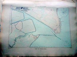85 NOIRMOUTIER PLAN DU PORT ET DE LA VILLE  EN 1883   DE L'ATLAS DES PORTS DE FRANCE 49 X 67 Cm - Cartes Marines
