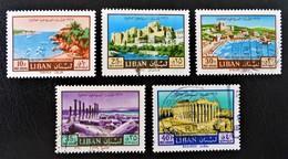 ANNEE INTERNATIOALE DU TOURISME 1967 - OBLITERES - YT PA 413 + 417/20 - Liban