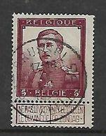 Belgium, 1912, 5 Francs, Purple, With Tab, Fine Used, - 1912 Pellens