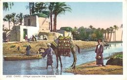 POSTAL    EL CAIRO  -EGIPTO  - VILLAGE OPPOSITE THE PYRAMIDS - El Cairo