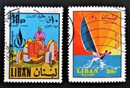 EMISSIONS 1968/69 - OBLITERES - YT PA 478 + 497 - Liban
