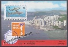 British Indian Ocean 1996 Yvert BF 7, Hong Kong 97 Stamp Exhibition Commemorative Issue - Miniature Sheet- MNH - Territorio Británico Del Océano Índico