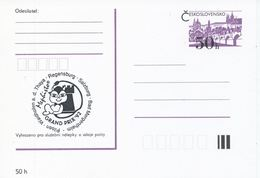 J0874 - Tchécoslovaquie / Entires Postaux (1992) Tournoi International D'échecs Mephisto GRAND PRIX '92 (noir) - Scacchi